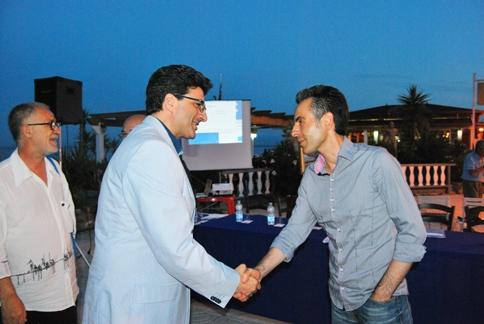 Con il sindaco di San Lorenzo B. Antonio Cersosimo